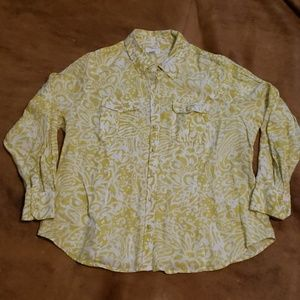 Charter club woman size 16w linen top